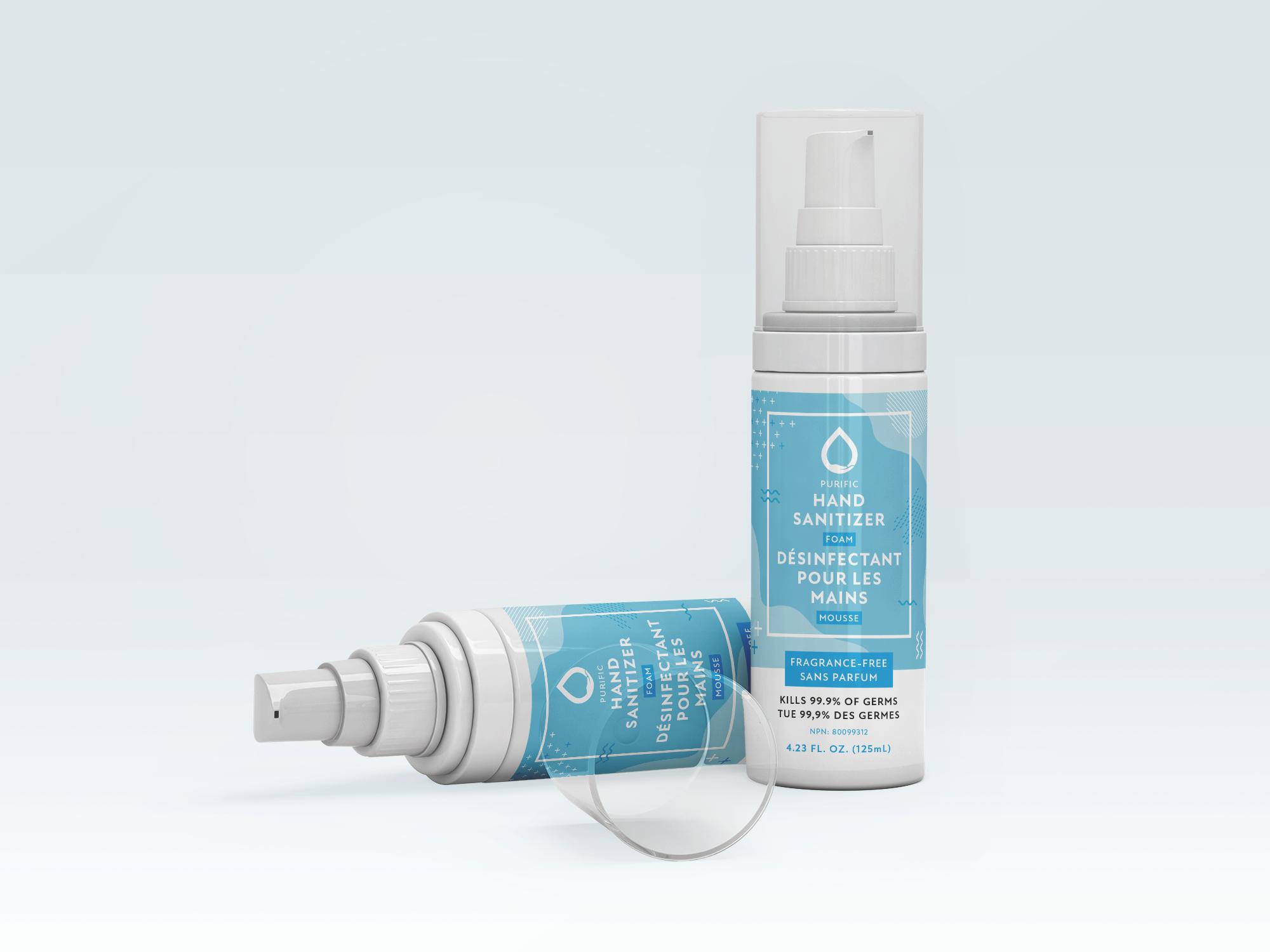 Purific Hand Sanitizer Foam Bottle
