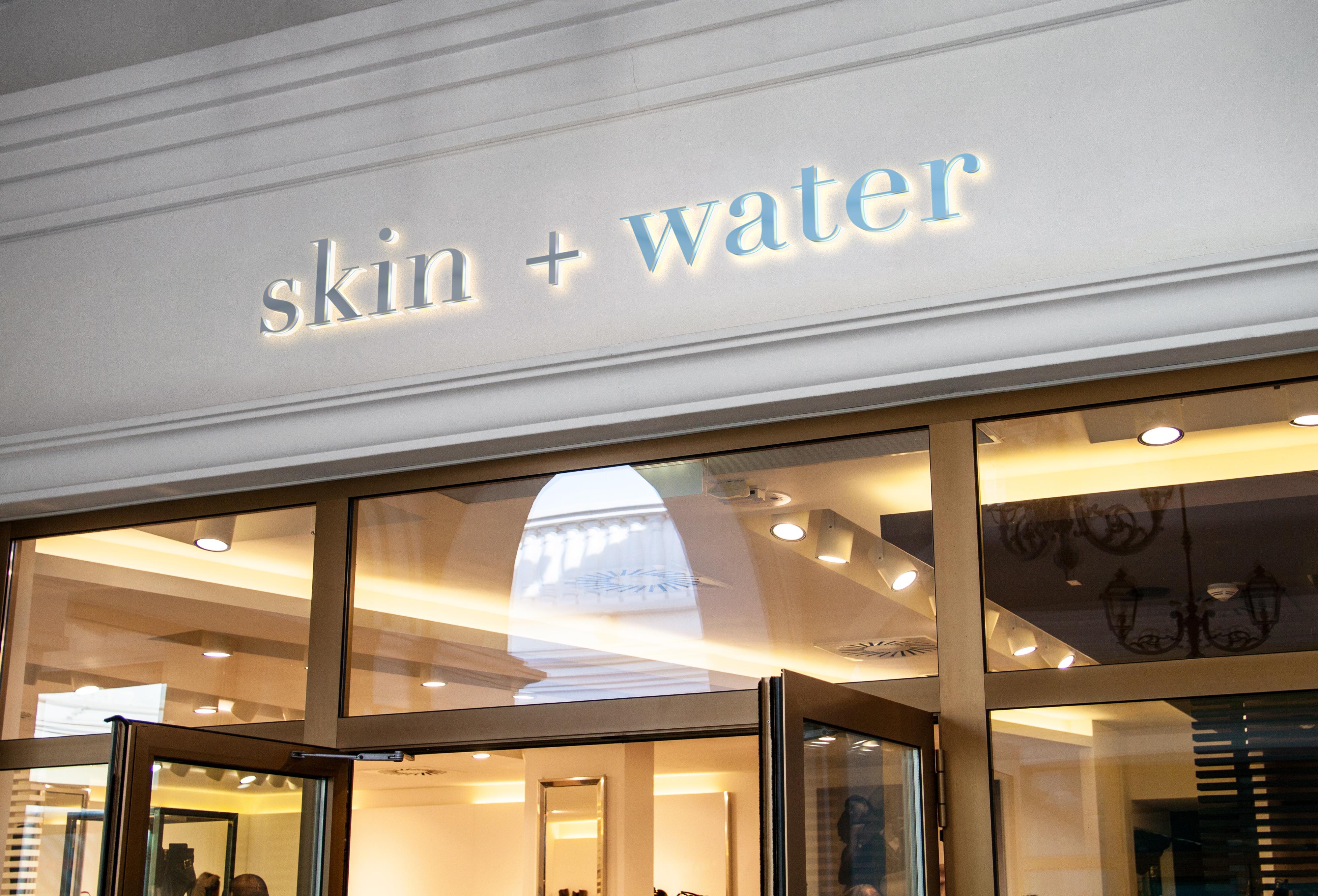 Skin+Water Signage