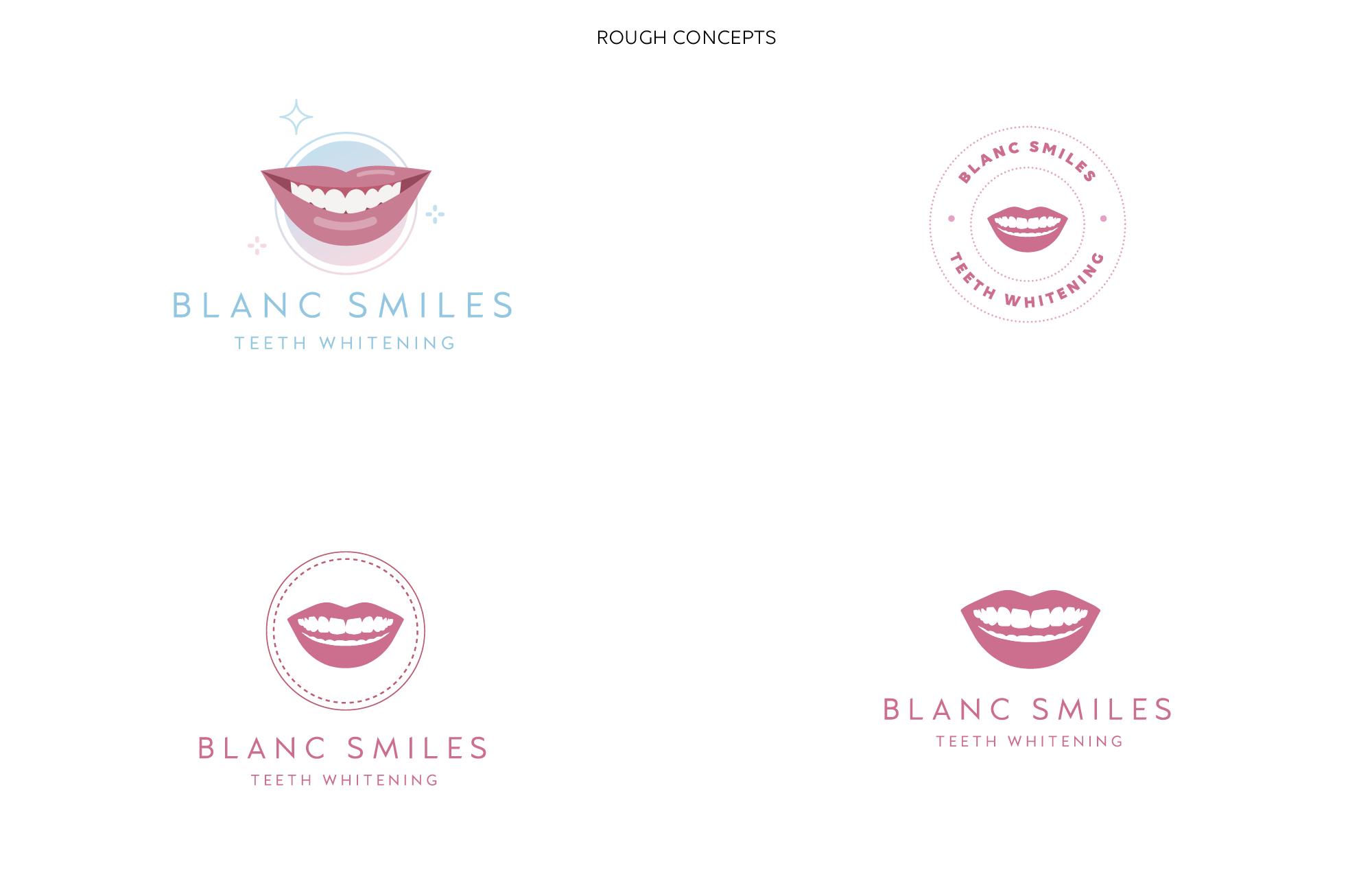 Blanc Smiles Logo Conceptss