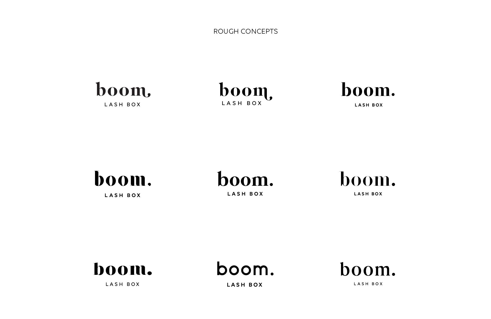 Boom Lash Box Logo Concepts