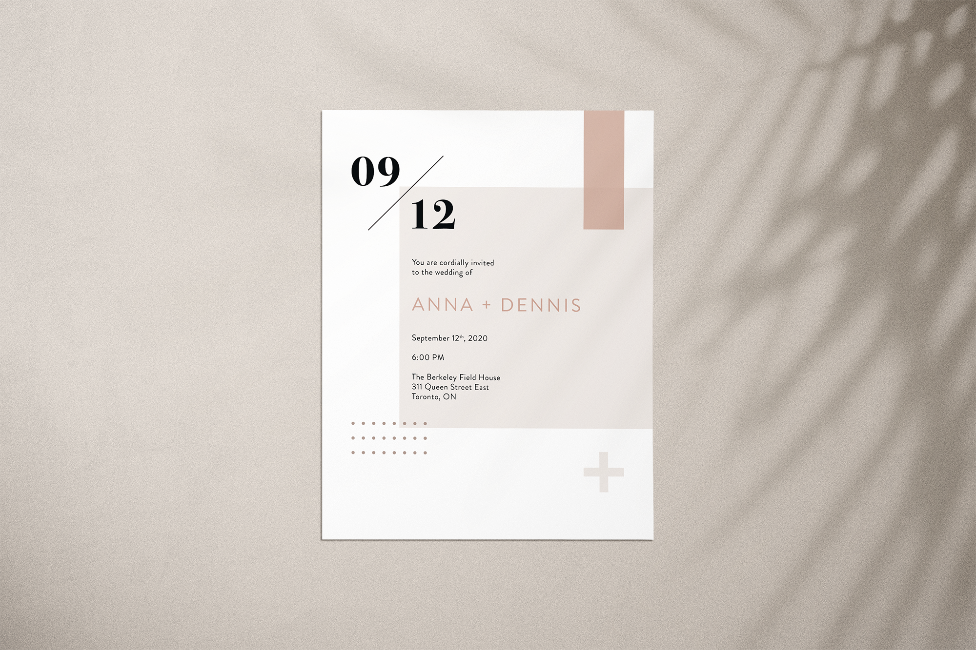 Anna & Dennis Evite Option 1