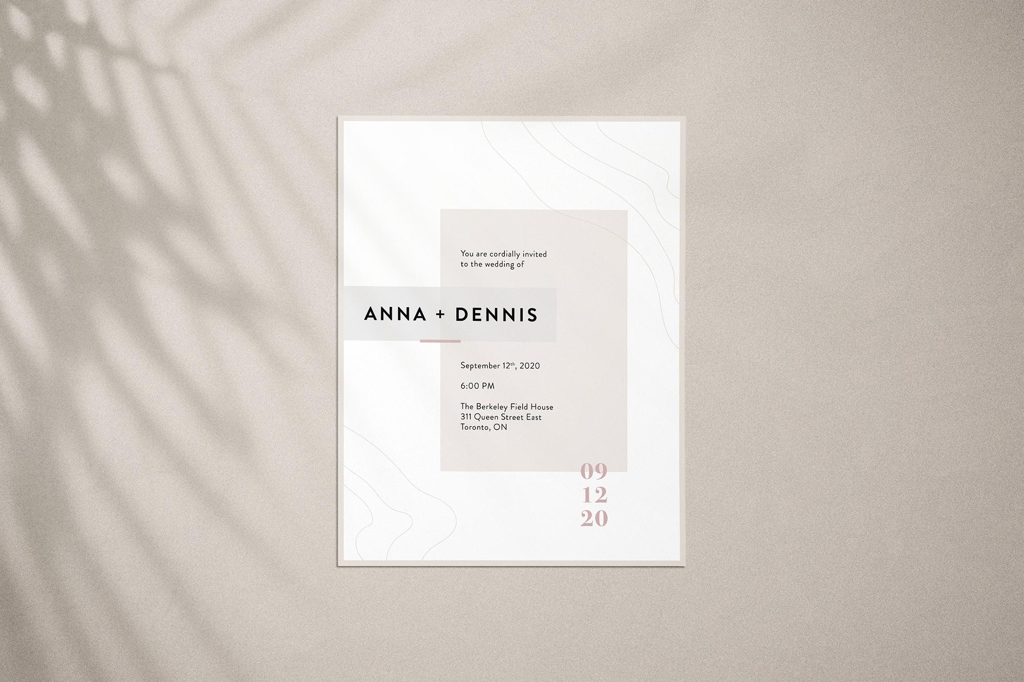 Anna & Dennis Evite Option 2